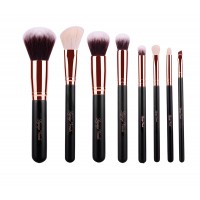 8 Piece Rose Gold Brush Set